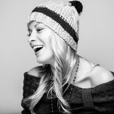 Candid blond Royalty Free Stock Images