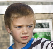 Candid close up portrait of a boy Stock Photography
