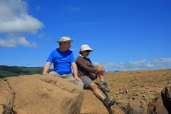 Candid Couple in Tablelands Royalty Free Stock Photo