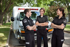 Candid EMS Professionals Stock Images