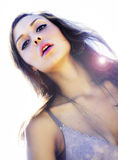 Candid fashion beauty sunshine picture Royalty Free Stock Photos