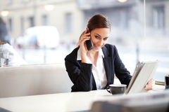 Candid image of a businesswoman Stock Photography