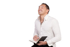Candid image of a man laughing Stock Images