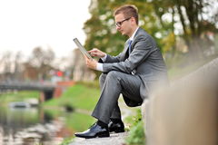 Candid image of young businessman Royalty Free Stock Images