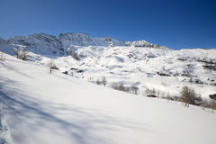Quiet alpine scene in winter Royalty Free Stock Images