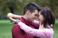 Candid photo of an attractive young couple in love Stock Photos