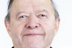 Candid portrait of senior man Stock Photography