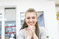 Candid portrait of woman at work Royalty Free Stock Photos
