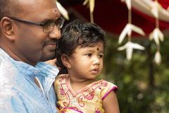 Candid shoot of Indian father and daughter Royalty Free Stock Image
