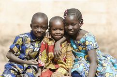 African Family Boys and Girls Smiling Laughing in Africa stock photo