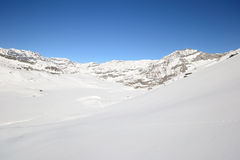 Pure white alpine landscape Stock Photo