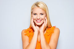 Candid smile. Royalty Free Stock Photo