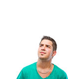 Candid young man Stock Images