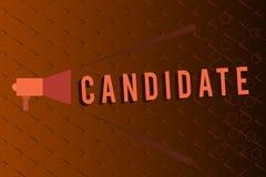 Candidat conceptuel d'apparence d'écriture de main Texte de photo d'affaires démontrant pour qui fait acte de candidature pour le illustration libre de droits