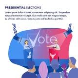 Candidat för illustration två presidentval stock illustrationer