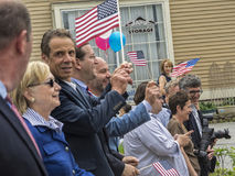 Candidat Hillary Clinton et Gouverneur Andrew Cuomo Image libre de droits