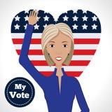 Candidat politique féminin illustration libre de droits