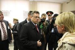 Candidat pour le maire de Khimki de Pro-Kremlin Photographie stock libre de droits
