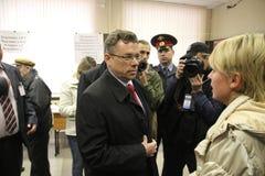 Candidat pour le maire de Khimki de Pro-Kremlin Photographie stock
