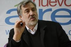 Candidat présidentiel d'Alejandro Guillier au Chili Image libre de droits