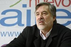 Candidat présidentiel d'Alejandro Guillier au Chili Images stock