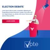 Candidat présidentiel potentiel d'illustration plate illustration de vecteur