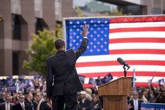 Candidat présidentiel Barack Obama Images libres de droits