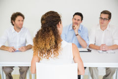 Candidate being interviewed by interviewers Royalty Free Stock Image