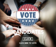 Candidate Candidates Choosing Diversity Vote Concept Royalty Free Stock Images