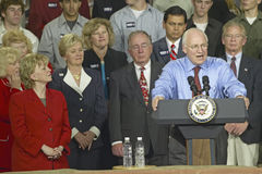Candidate Dick Cheney. Campaign rally in Ohio attended by Vice Presidential candidate Dick Cheney, 2004 Royalty Free Stock Photo