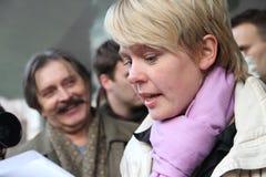 Candidate for mayor of Khimki opposition Evgeniya Stock Photography
