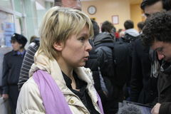 Candidate for mayor of Khimki opposition leader Stock Photo