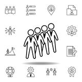 Candidates, group, workers icon. Set of hr elements. Can be used for web, logo, mobile app, UI, UX