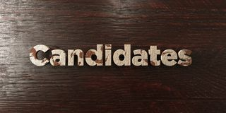 Candidates - grungy wooden headline on Maple - 3D rendered royalty free stock image. This image can be used for an online website banner ad or a print postcard royalty free illustration