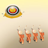 Candidates Hunting For the Best Job Illustration royalty free illustration