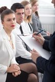 Candidates for job in corporation Stock Photography