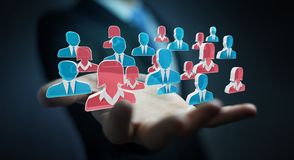 Candidato de reclutamiento del hombre de negocios a una representación del trabajo 3D libre illustration