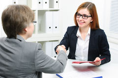 Candidato de trabalho que tem a entrevista Foto de Stock
