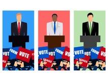 Candidato del partido implicado en el discusión Candidato presidencial Campaña electoral de  Discurso de la tribuna libre illustration
