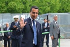 Candidato di Luigi Di Maio del movimento cinque stelle al Primo Ministro nel giorno delle elezioni generale fotografia stock libera da diritti