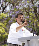 Candidato di PRI per il Presidente del Messico Immagini Stock