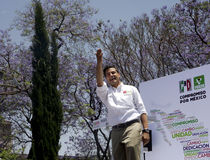 Candidato di PRI per il Presidente del Messico Fotografia Stock Libera da Diritti