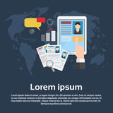 Candidato Job Position Business Web Banner del reclutamiento del curriculum vitae ilustración del vector
