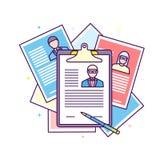 Candidato Job Position del reclutamiento del curriculum vitae libre illustration