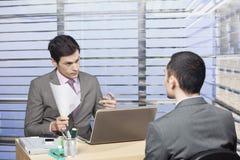 Candidato novo na entrevista de trabalho - conceito Fotografia de Stock Royalty Free