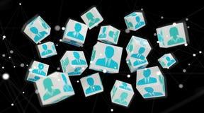 Candidato para uma rendição da ilustração 3D do cubo do trabalho Imagens de Stock