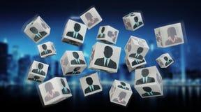 Candidato para uma rendição da ilustração 3D do cubo do trabalho Imagem de Stock