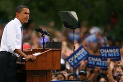 Candidato presidencial, Barack Obama Foto de archivo