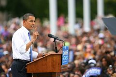 Candidato presidencial, Barack Obama Imagen de archivo libre de regalías
