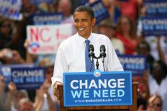 Candidato presidencial, Barack Obama Fotos de Stock